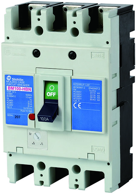 Shihlin Electric Molded Case Circuit Breaker BM100-HBN