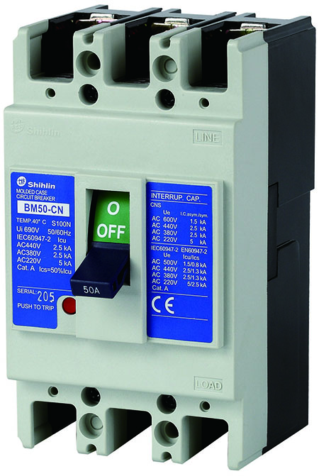 Shihlin Electric Molded Case Circuit Breaker BM50-CN