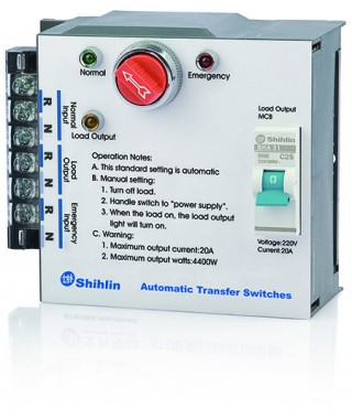 Automatic Transfer Switch - Shihlin Electric Automatic Transfer Switch MS type